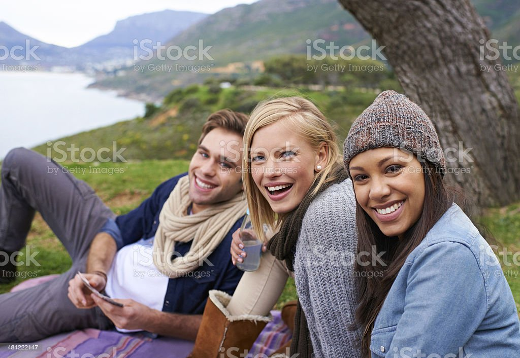 Chilling with friends...could anything better?We don't think so! stock photo