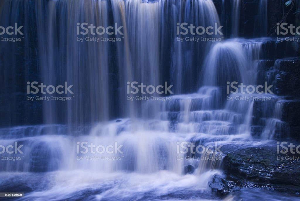 Chilly waterfall stock photo