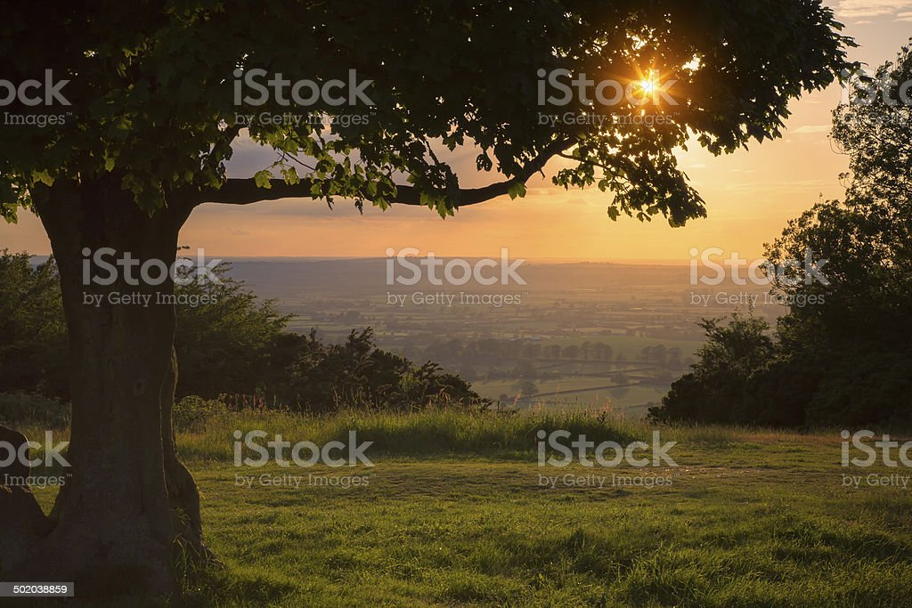 Chiltern Hills Sunset stock photo