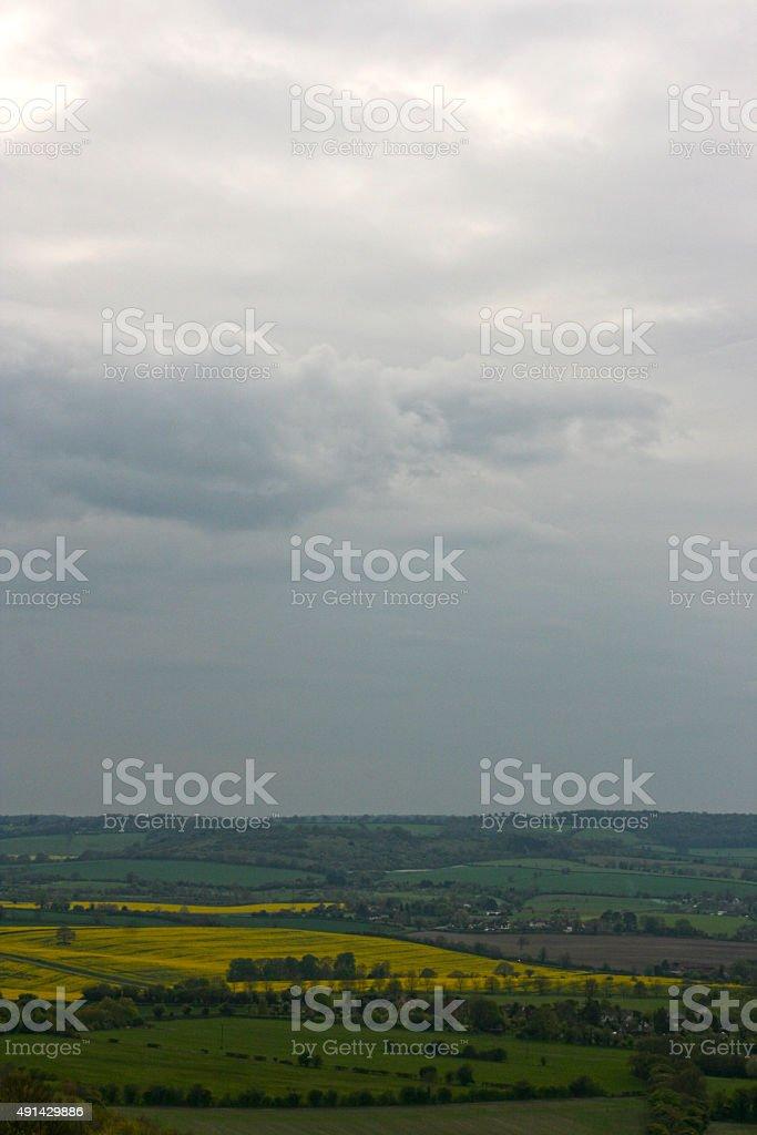 Chilterns landscape. View from Whiteleaf, Princess Risborough. stock photo
