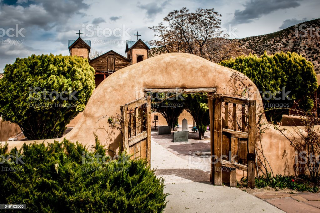 Santuario De Chimayo stock photo