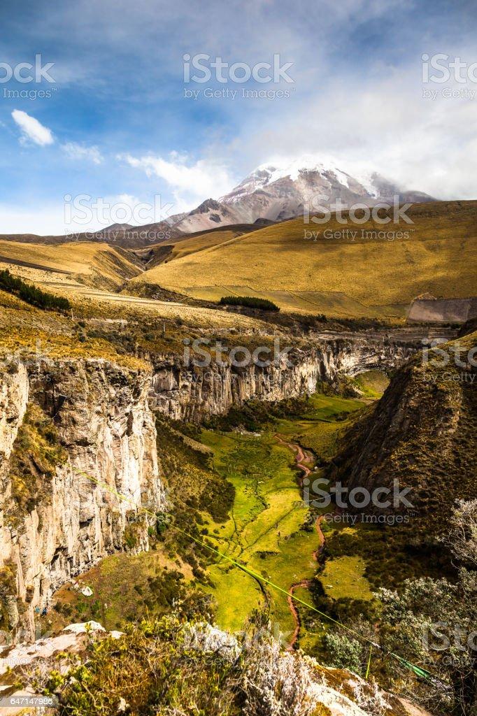Chimborazo volcano stock photo