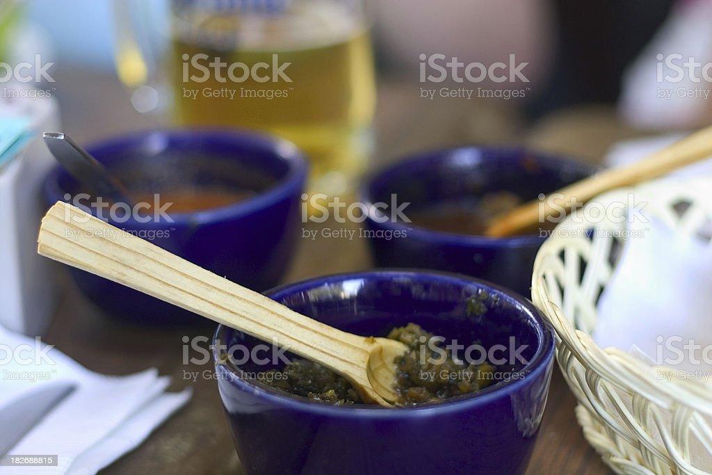 chimichurri sauce royalty-free stock photo