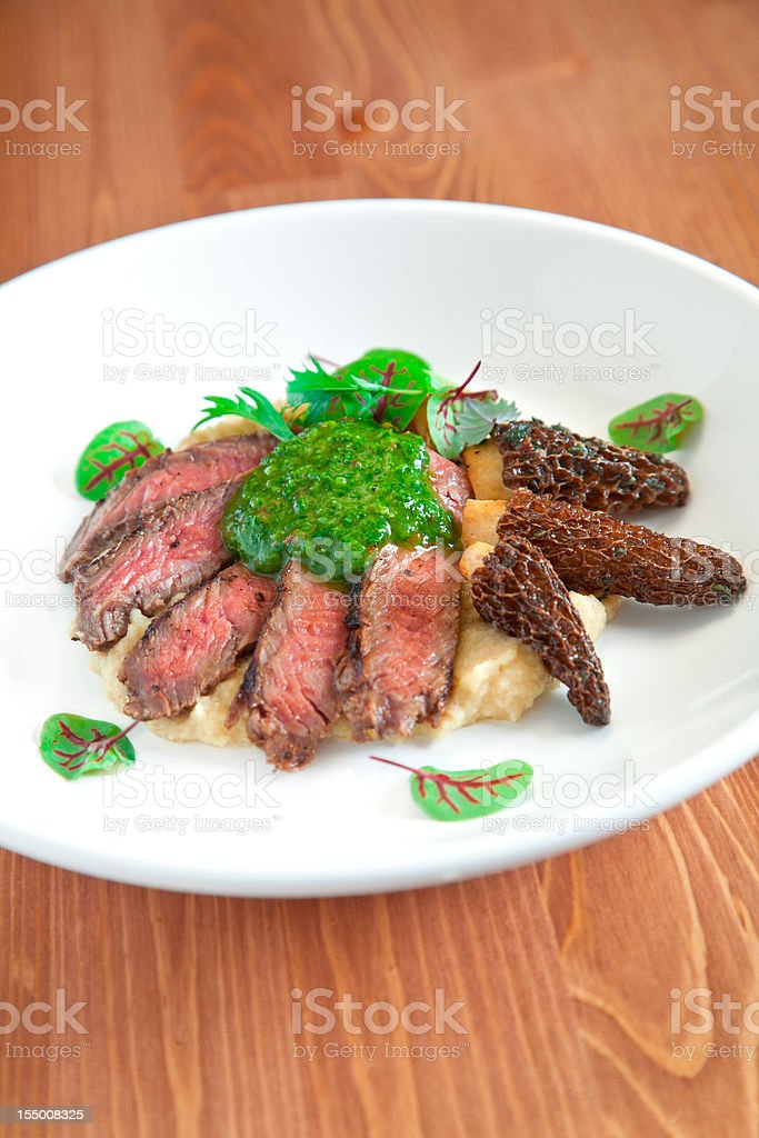 Chimichurri Steak stock photo