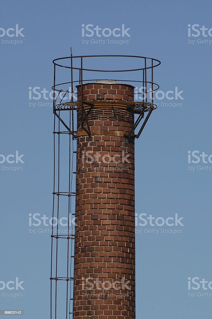 Chimney a clear day stock photo