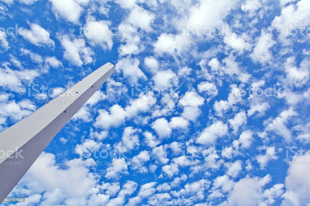 Chimney Against Sky stock photo