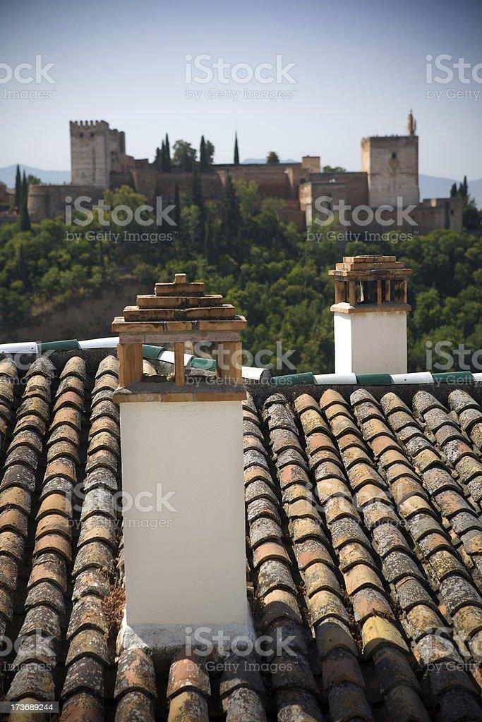 Chimney and Alhambra royalty-free stock photo