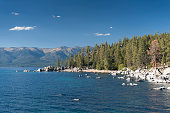 Chimney Beach, Lake Tahoe State Park, Nevada, USA