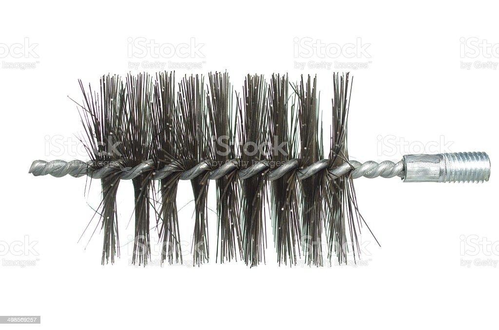 chimney brush ramrod stock photo