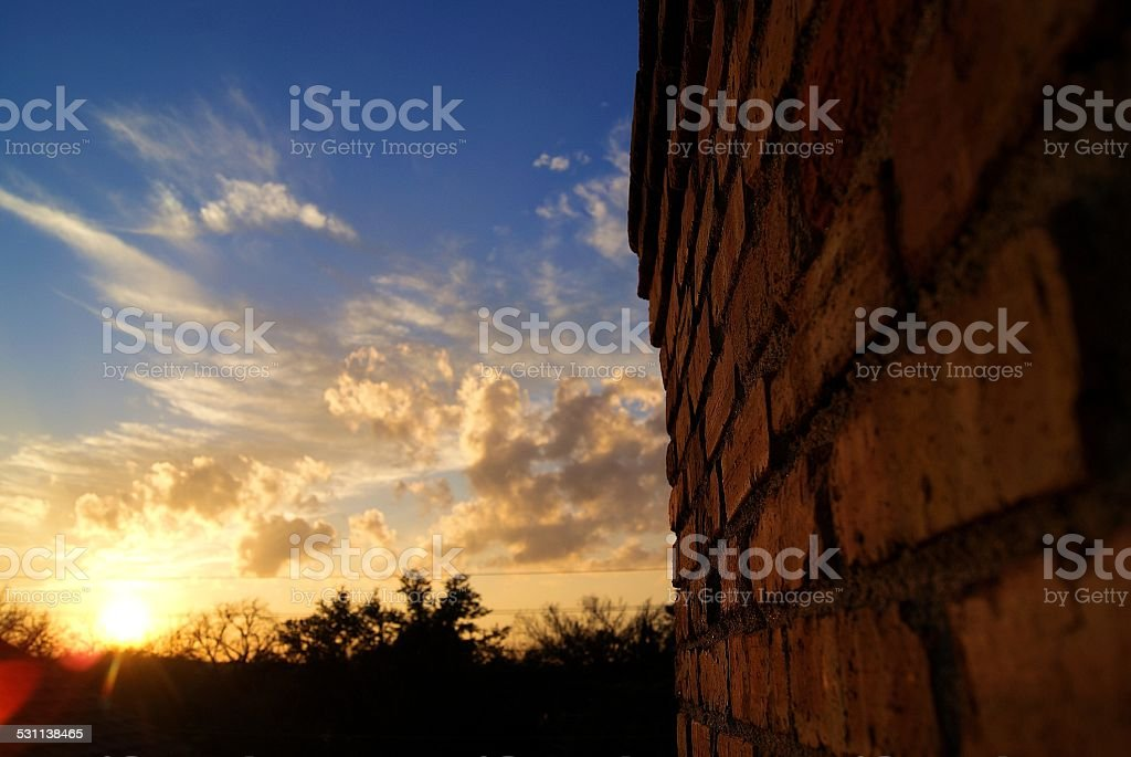Chimney by the Clouds royalty-free stock photo