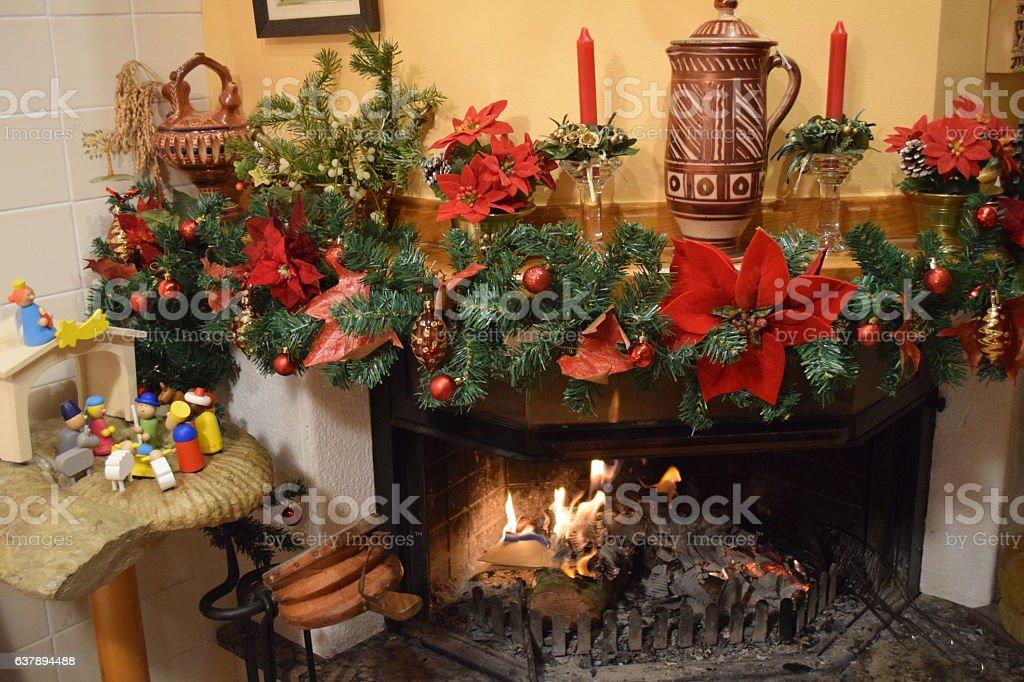 Chimney - Christmas decoration stock photo