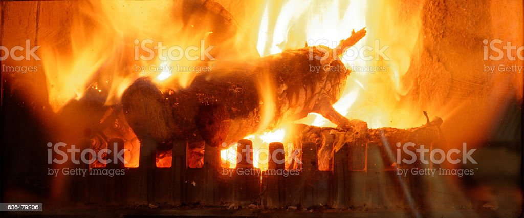 Chimney fire romantic fireplace brighter stock photo