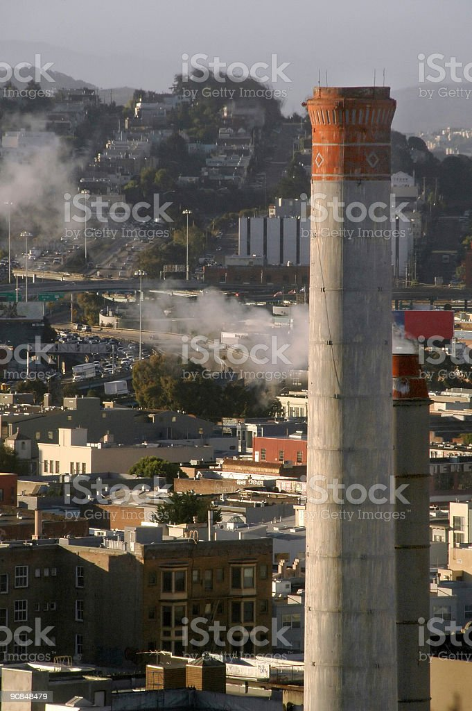Chimney in early Frisco stock photo