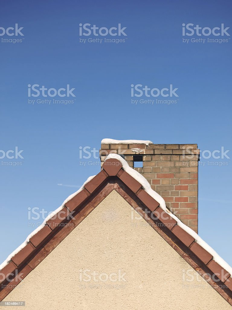 chimney in snow royalty-free stock photo