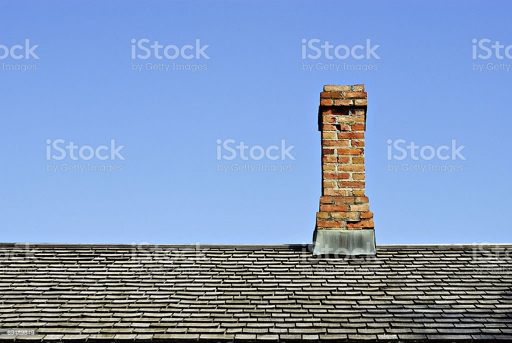 Chimney on Roof royalty-free stock photo