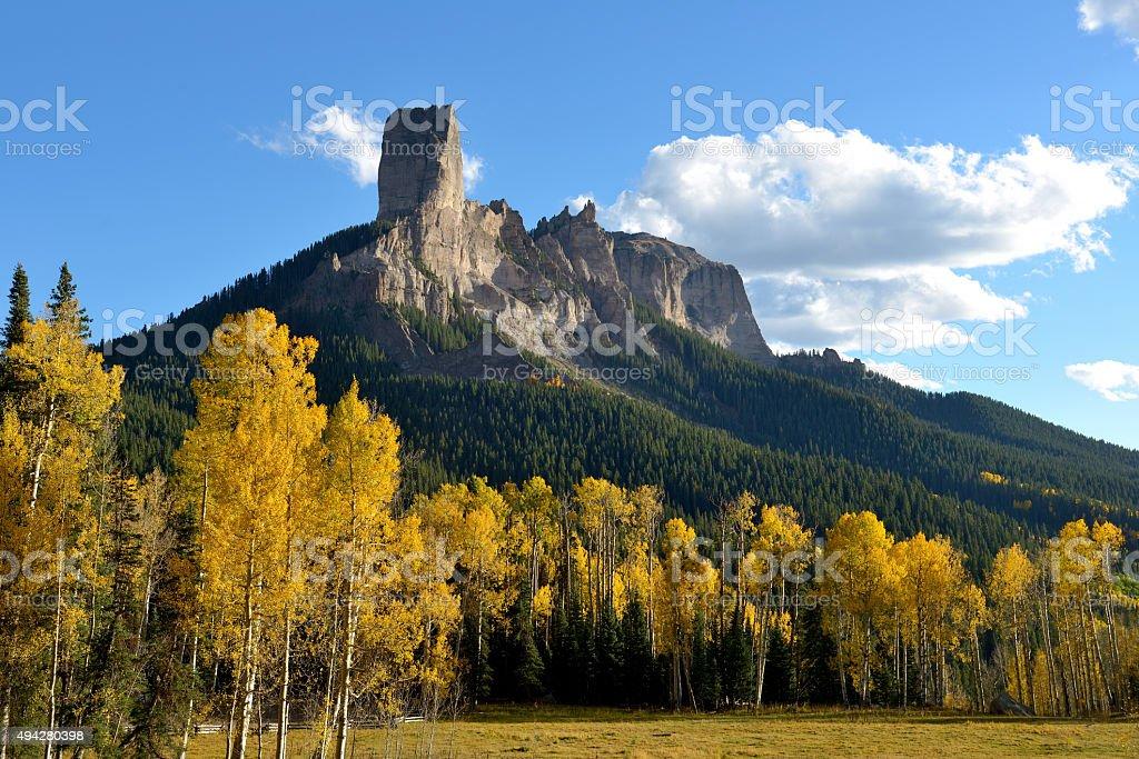 Chimney Peak stock photo