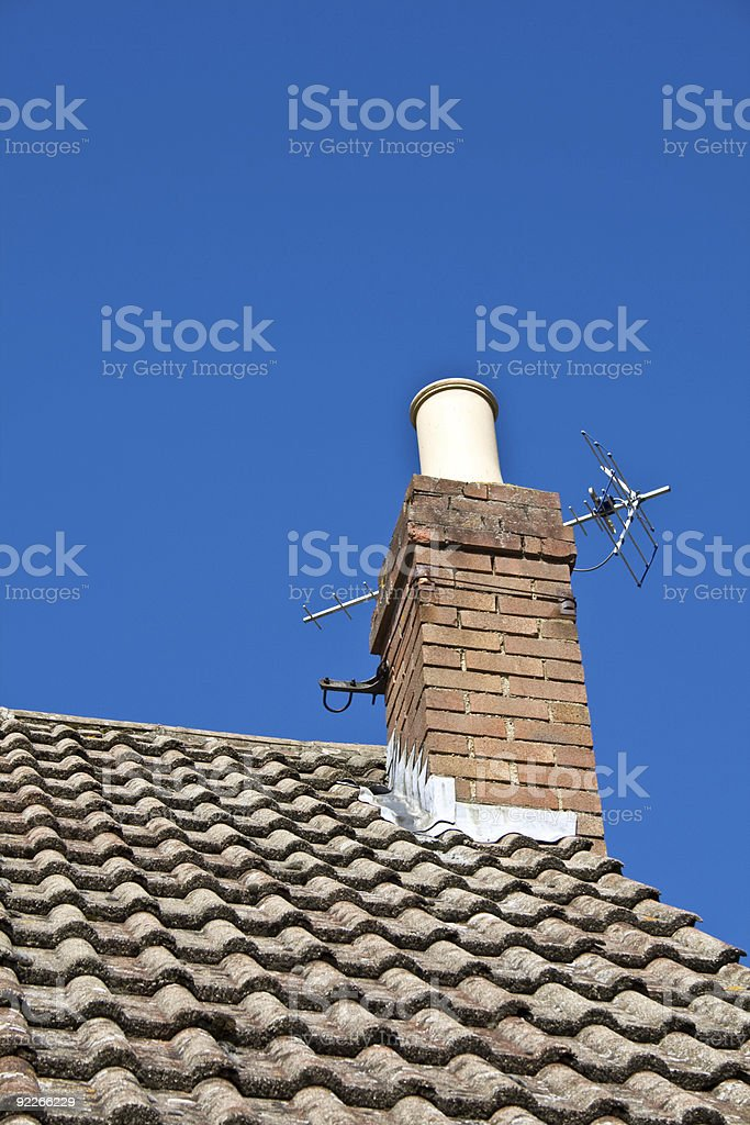 Chimney Pot and Ariel stock photo