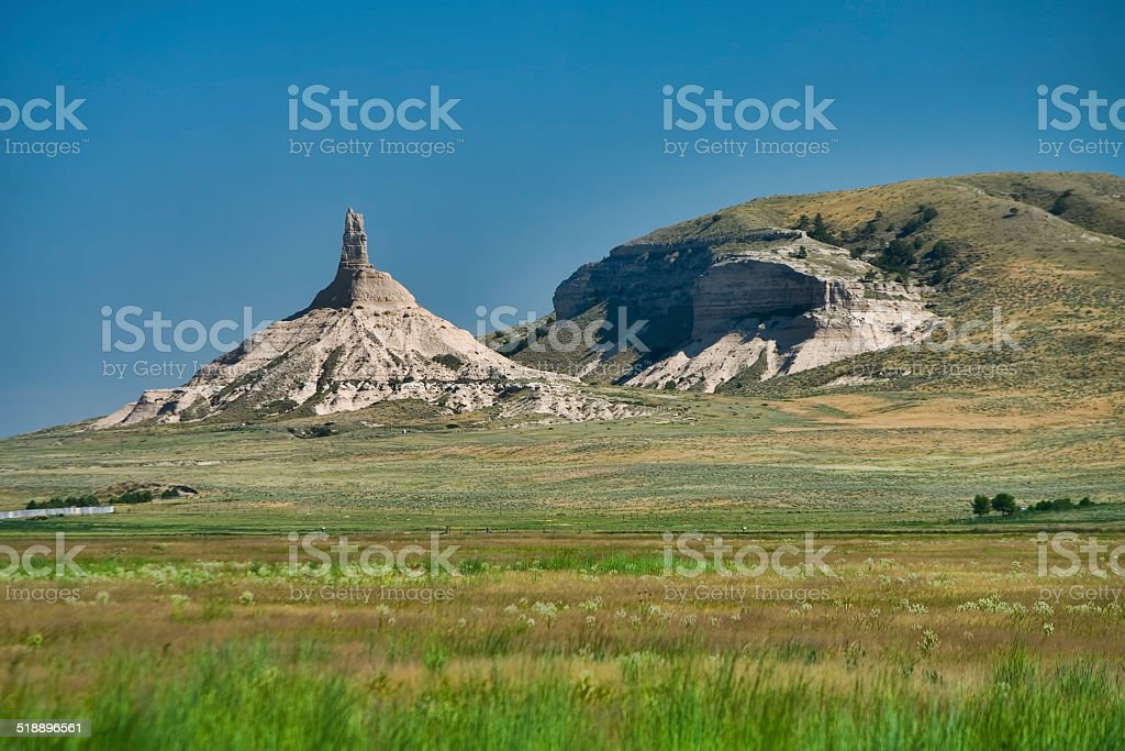 Chimney Rock 2 stock photo