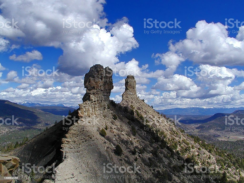 Chimney Rock Archaeological Area stock photo