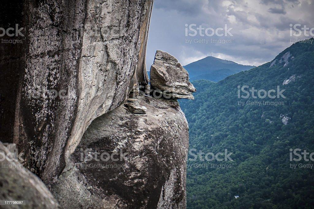 chimney rock at lake lure royalty-free stock photo