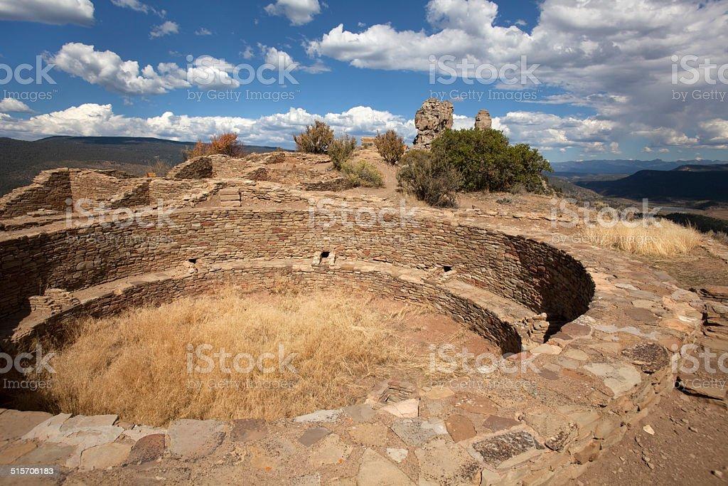 Chimney Rock National Monument Colorado horizontal stock photo