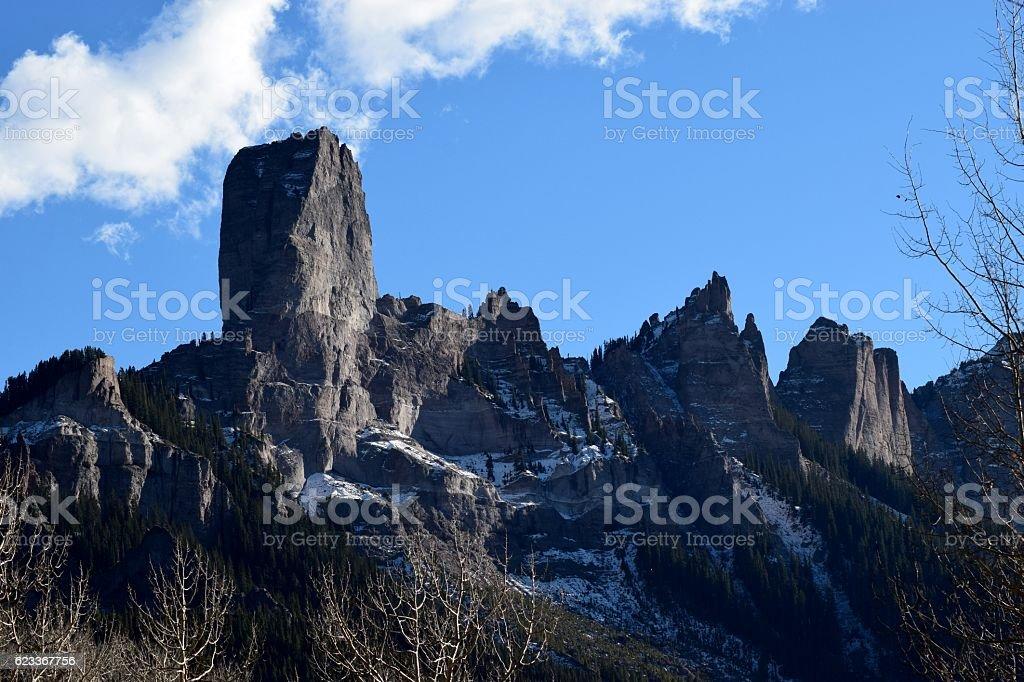 Chimney Rock stock photo