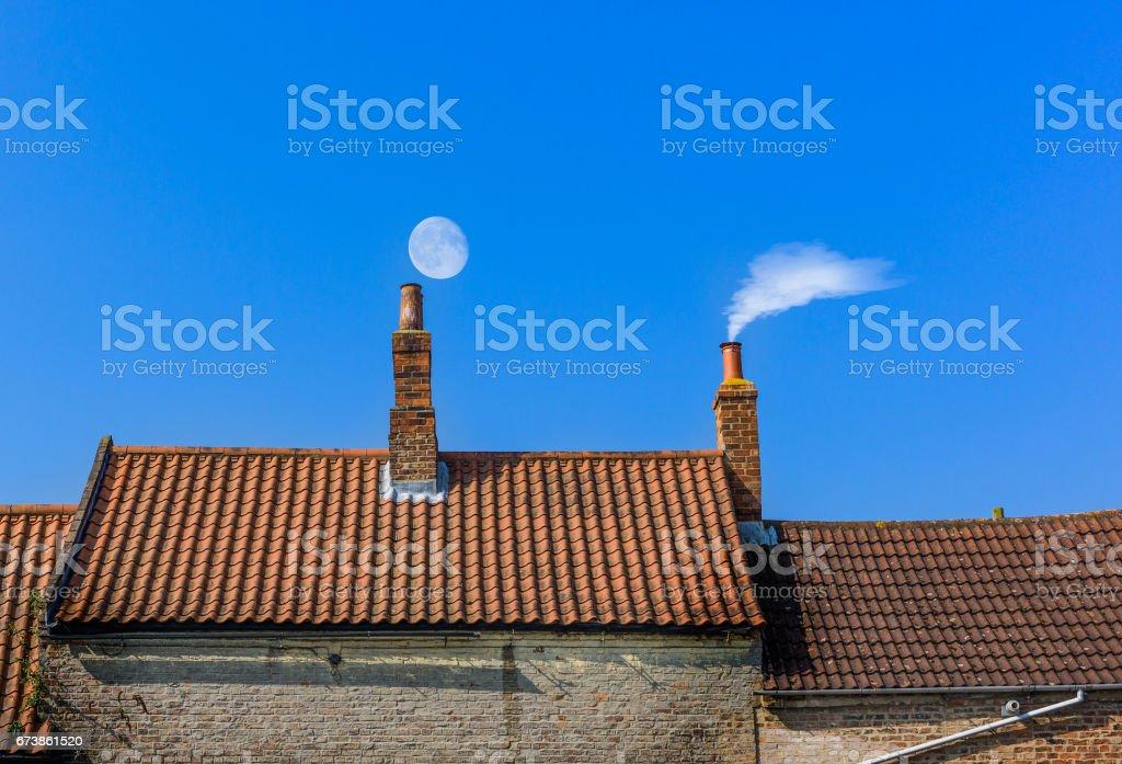 chimney roof line stock photo