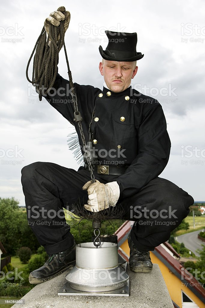chimney sweep stock photo