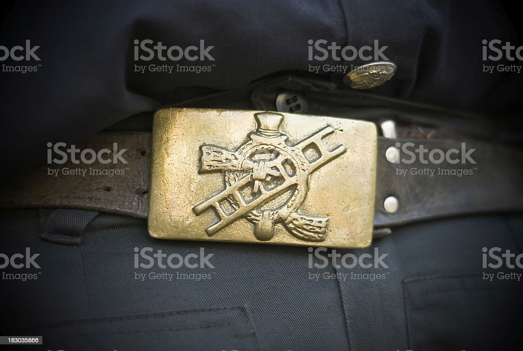 Chimney sweep's emblem stock photo