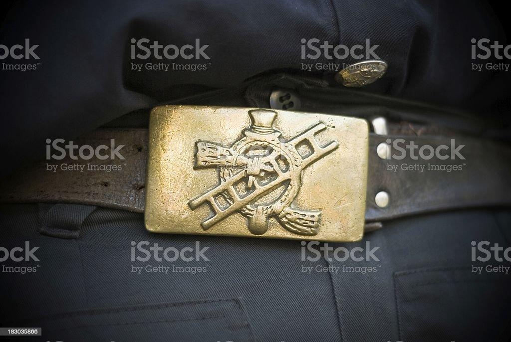 Chimney sweep's emblem stock photo