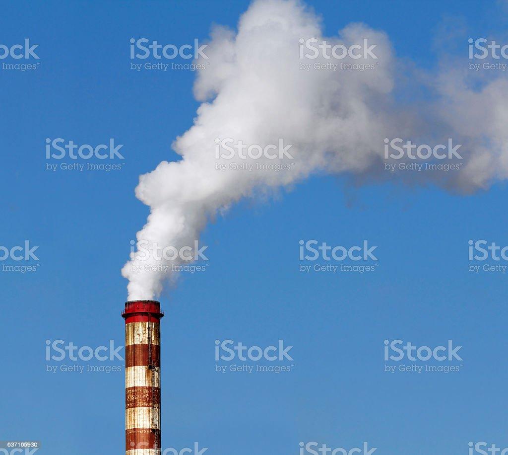Chimney with smoke stock photo