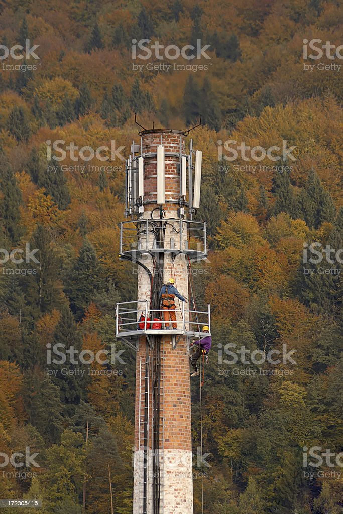 Chimney workers royalty-free stock photo