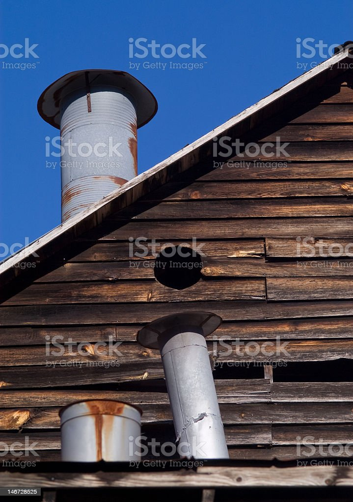 Chimneys and Rooftops royalty-free stock photo