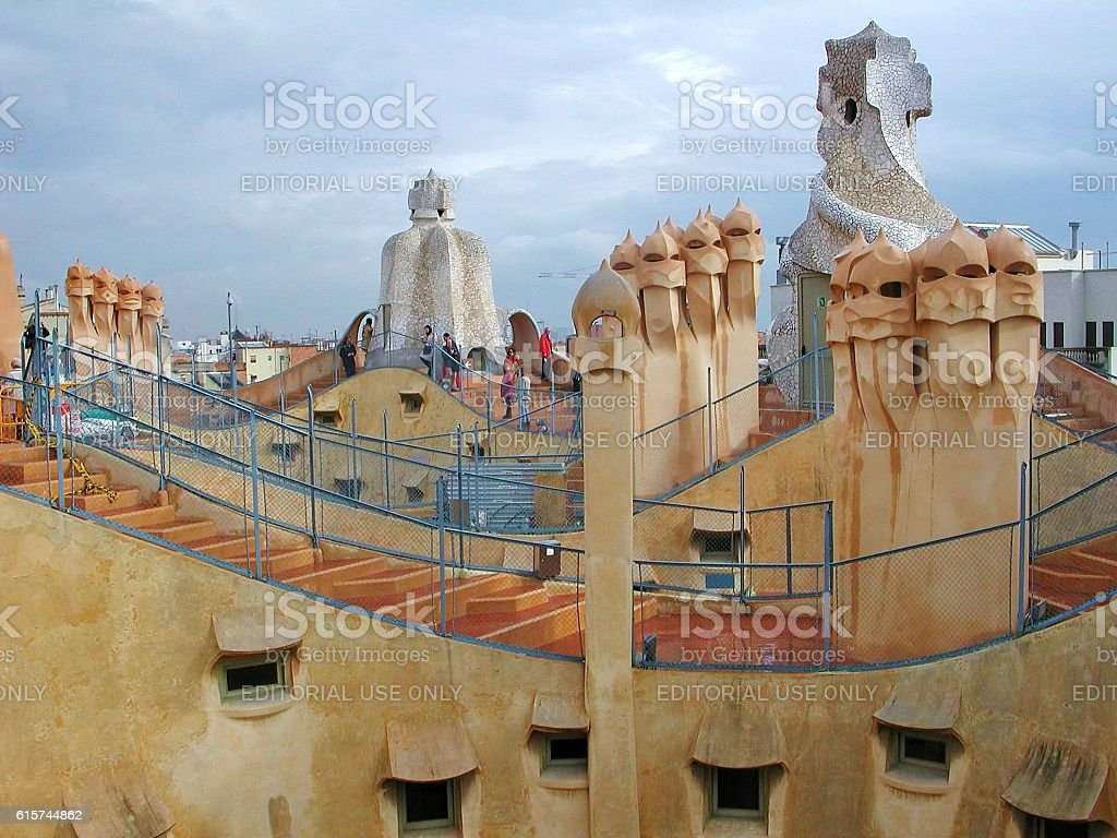 Camini della Pedrera stock photo