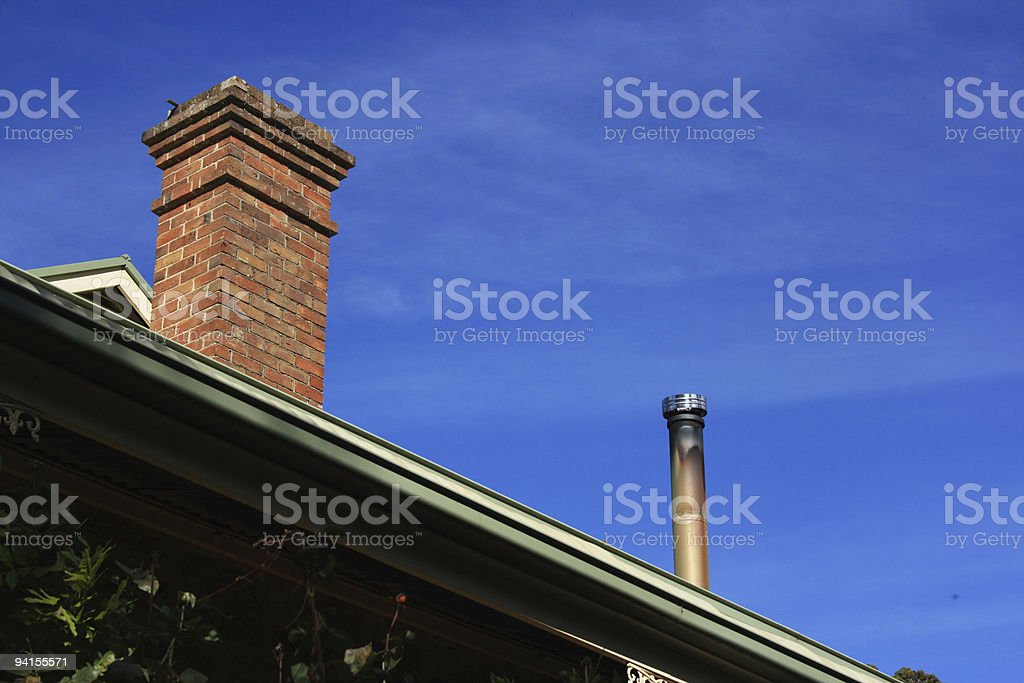 Chimneys - Old and New royalty-free stock photo