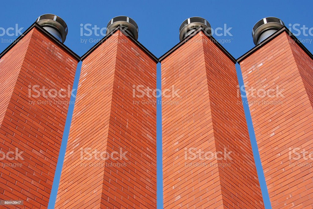 Chimneys royalty-free stock photo