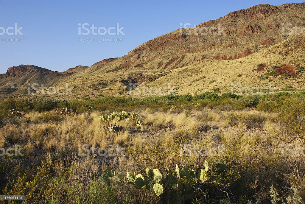 Chimneys Trail at Big Bend National Park stock photo