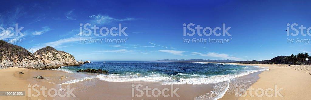 Chimo Beach Panorama stock photo