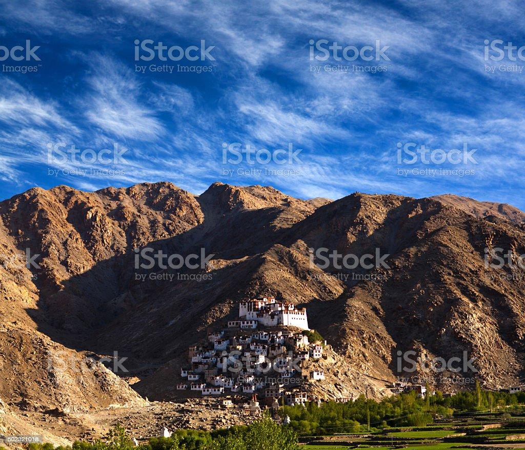 Chimray monastery in Ladakh, Jammu and Kashmir state, India. stock photo