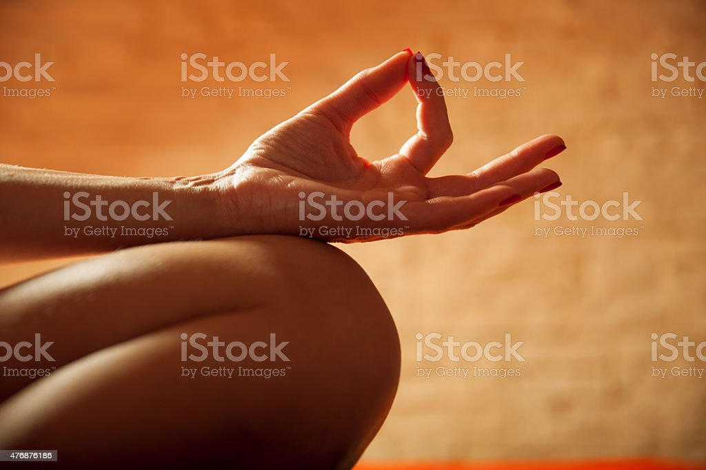 Chin Mudra stock photo