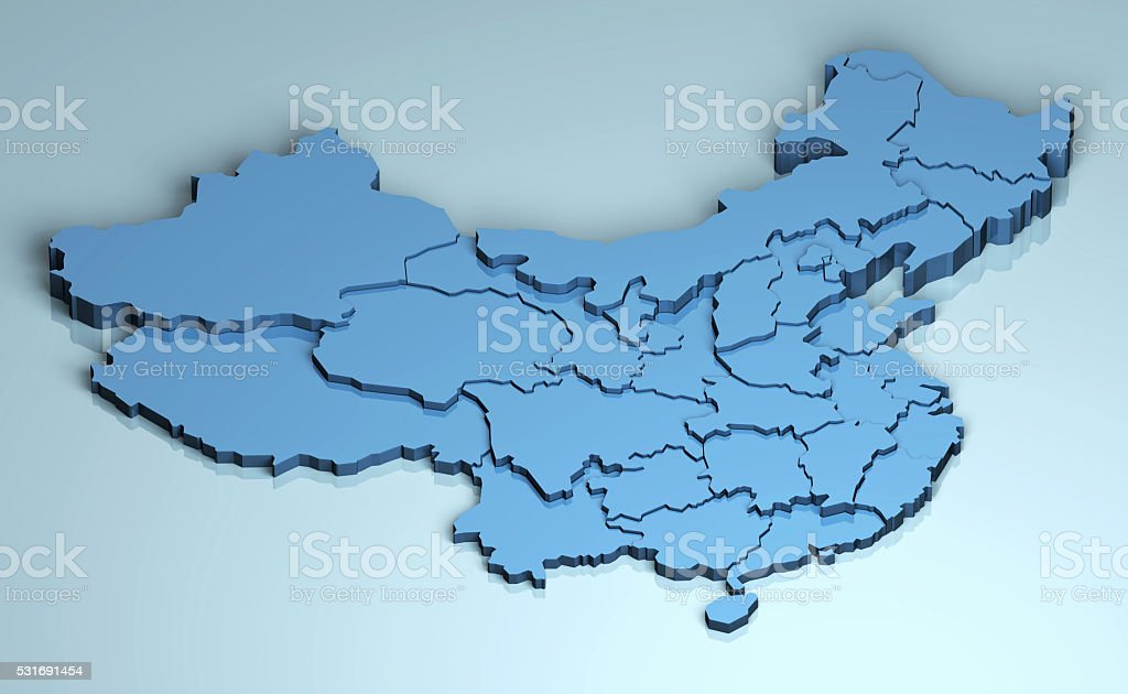 China 3D stock photo