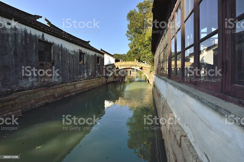 China Ancient Town stock photo