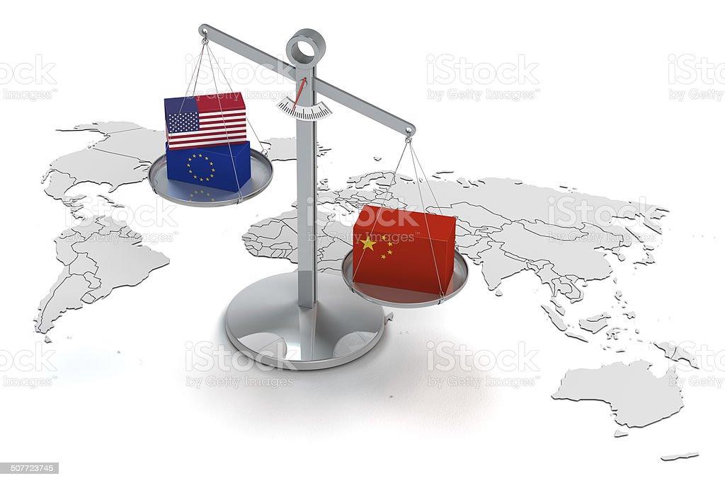china and the world economy stock photo