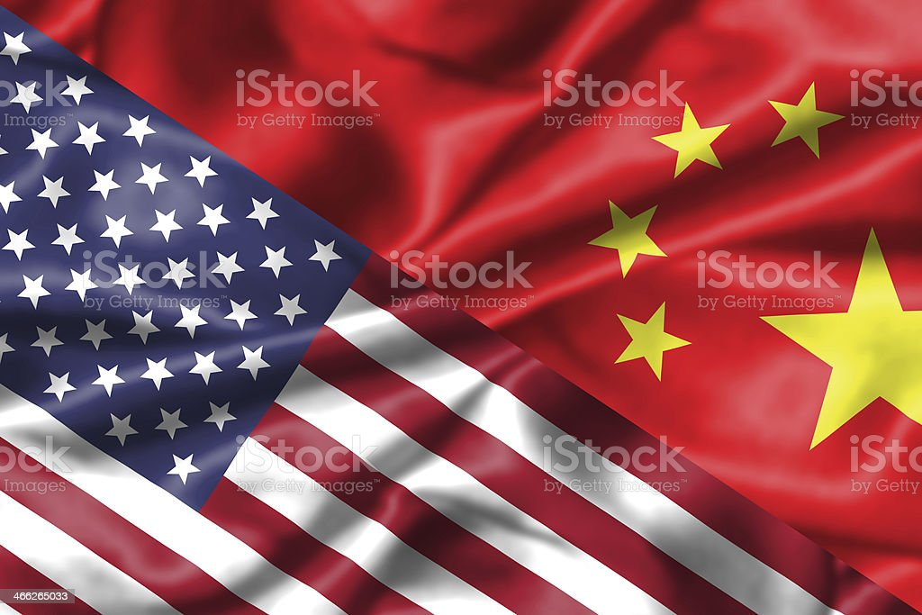 China and USA relationship. stock photo