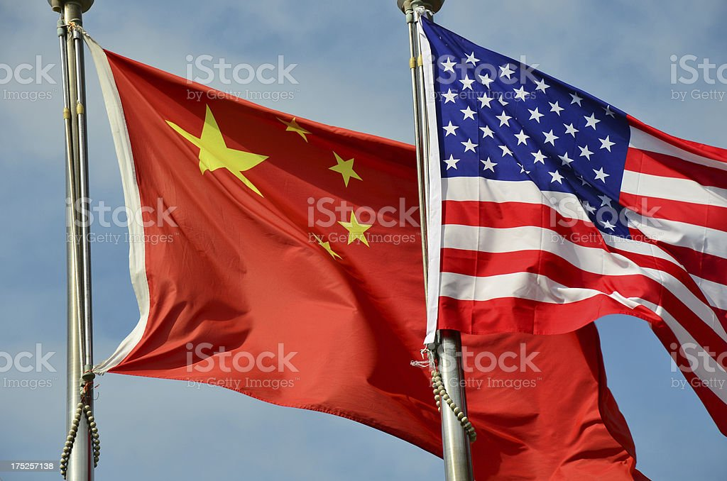 China behind America stock photo
