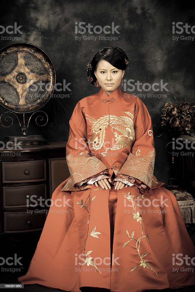 china bride stock photo