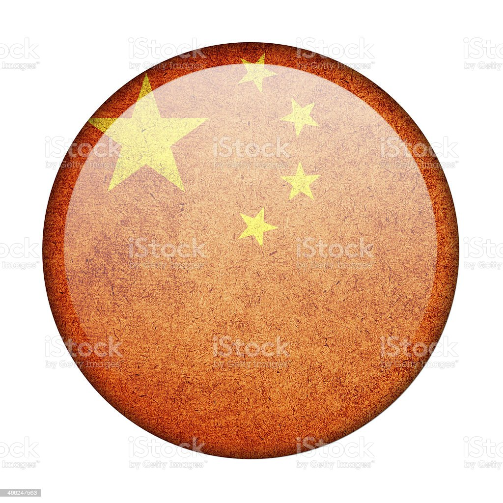 china button flag royalty-free stock photo