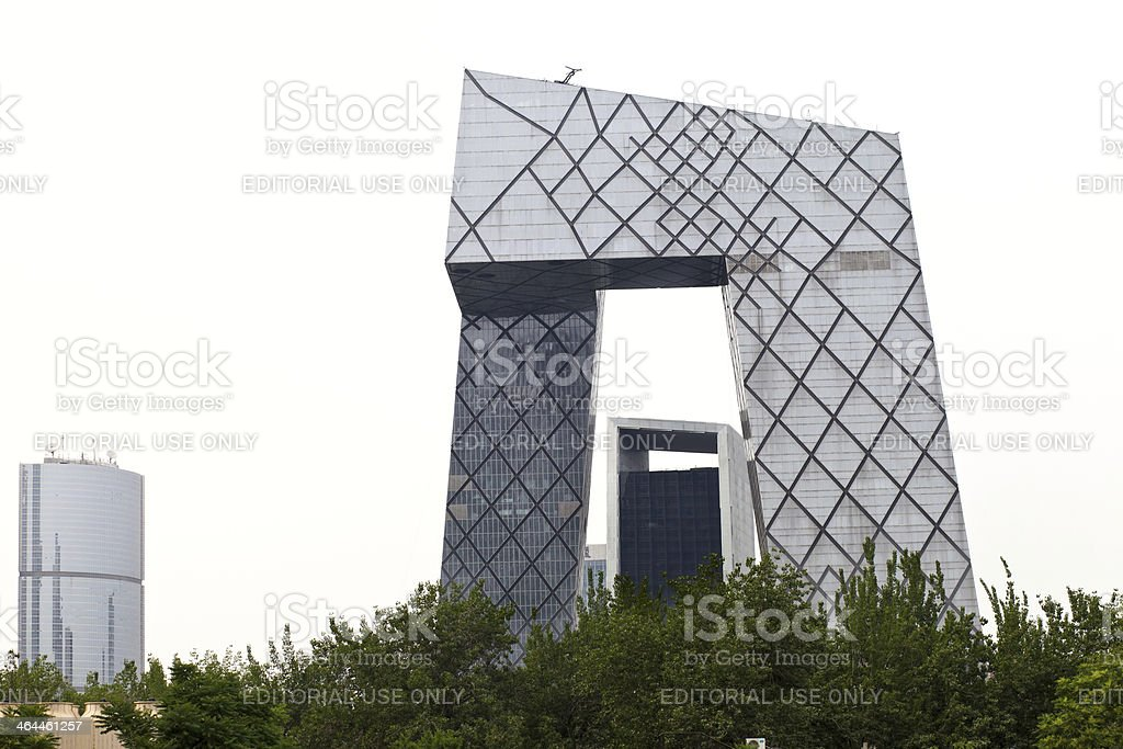 China Central Television Building, Beijing stock photo