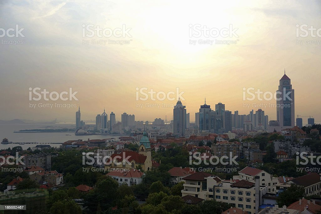 china city qingdao stock photo