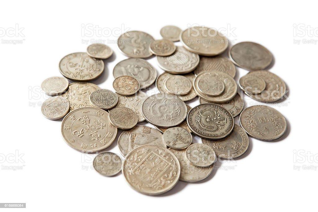 China Coins stock photo